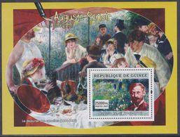 """Guinée BF N° 579 XX Détail De Tableau D'Auguste Renoir : """"Femme à L'ombrelle"""", Le Bloc Sans Charnière, TB - Guinea (1958-...)"""