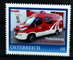 Pt195 Philatelietag Altschlaining, Feuerwehrauto, Feuerwehr, AT 2018 ** - Austria