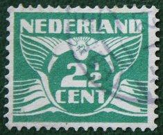 2 1/2 Ct Vliegende Duif No Watermark NVPH 146 (Mi 148 A) 1924 -1925 Gestempeld / USED NEDERLAND / NIEDERLANDE - 1891-1948 (Wilhelmine)