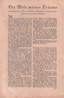 Die Welt Meiner Träume (Oskar Baum) / Artikel, Entnommen Aus Zeitschrift / 1930 - Books, Magazines, Comics