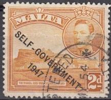Malta 1948 Michel 228 O Cote (2006) 0.20 Euro Citadelle De Gozo Cachet Rond - Malte