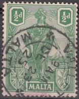 Malta 1922 Michel 83 O Cote (2006) 0.20 Euro Armoiries Et Melita Cachet Rond - Malte