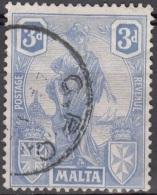 Malta 1922 Michel 88 O Cote (2006) 2.20 Euro Armoiries Et Melita Cachet Rond - Malte