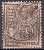 Malta 1930 Michel 152 O Cote (2006) 0.10 Euro Roi George V Et Armoirie Cachet Rond - Malte