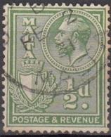 Malta 1930 Michel 153 O Cote (2006) 0.10 Euro Roi George V Et Armoirie Cachet Rond - Malte