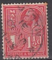 Malta 1930 Michel 155 O Cote (2006) 0.10 Euro Roi George V Et Armoirie Cachet Rond - Malte