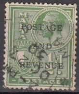 Malta 1928 Michel 134 O Cote (2006) 0.10 Euro Roi George V Et Armoirie Cachet Rond - Malte