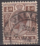 Malta 1914 Michel 41 O Cote (2006) 0.90 Euro Roi George V Cachet Rond - Malte