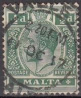 Malta 1914 Michel 42 O Cote (2006) 0.90 Euro Roi George V Cachet Rond - Malte