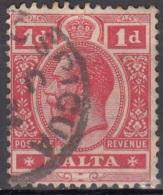 Malta 1914 Michel 43 O Cote (2006) 0.60 Euro Roi George V Cachet Rond - Malte