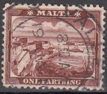 Malta 1901 Michel 15B O Cote (2006) 0.50 Euro Port De La Valetta Cachet Rond - Malte