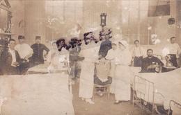 CARTE PHOTO,14,CALVADOS,MEZIDON,1915,HOPITAL MILITAIRE,BLESSES DE GUERRE,INFIRMIERE,RARE - France