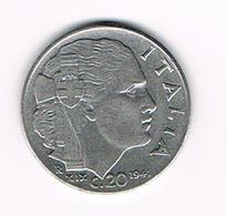-&   ITALIE  20 CENTESIMI   1942  XIX - 1861-1946 : Royaume
