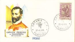 *ITALIA FDC ROMA GIOVANNI PIERLUIGI DA PALESTRINA 1975 . - F.D.C.