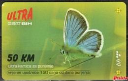 Bosnia Bht Sarajevo - ULTRA PREPAID CARD (recharge) 50 KM Used Time 150 Days - Bosnia