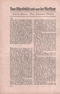 Schloß Elmau (von Johannes Müller) / Artikel, Entnommen Aus Zeitschrift / 1930 - Books, Magazines, Comics