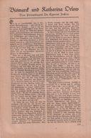 Bismarck Und Katharina Orlow / Artikel, Entnommen Aus Zeitschrift / 1930 - Books, Magazines, Comics