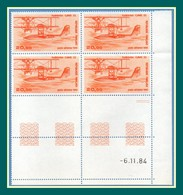 PA N° 58 █ De 4 ** Coin Daté 6/11/1984 Hydravion - Dated Corners