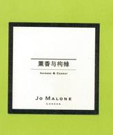 Cartes Parfumées  CARTE  JO MALONE LONDON ASIATIQUE  INCENSE & CÉDRAT - Modern (from 1961)