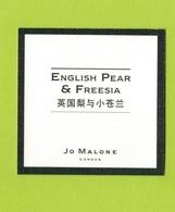 Cartes Parfumées  CARTE  JO MALONE LONDON  ASIATIQUE ENGLISH PEAR & FREESIA - Modern (from 1961)