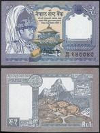 Nepal P 37 - 1 Rupee 1991 - UNC - Nepal