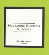 Cartes Parfumées  CARTE  JO MALONE LONDON  NECTARINE BLOSSOM & HONEY - Modern (from 1961)