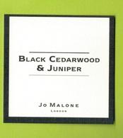 Cartes Parfumées  CARTE  JO MALONE LONDON   BLACK CEDARWOOD & JUNIPER - Modern (from 1961)