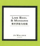Cartes Parfumées  CARTE  JO MALONE LONDON ASIATIQUE  LIME BASIL & MANDARIN - Modern (from 1961)