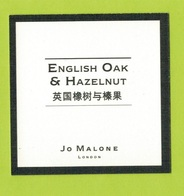 Cartes Parfumées  CARTE  JO MALONE LONDON ASIATIQUE ENGLISH OAK & HAZELNUT - Modern (from 1961)