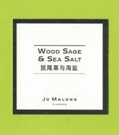 Cartes Parfumées  CARTE  JO MALONE LONDON ASIATIQUE WOOD SAGE  & SEA SALT - Modern (from 1961)