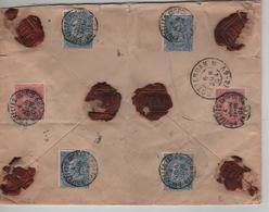 TP 58(2)-60(4) FB S/L.Valeur Déclarée (2000 Frs) Assuré C.BXL Nord Valeurs 4:6/1904 V.Rotterdam C.d'arrivée 2201 - 1893-1900 Thin Beard