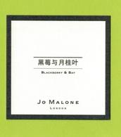 Cartes Parfumées  CARTE  JO MALONE LONDON    ASIATIQUE  BLACKBERRY  & BAY - Modern (from 1961)