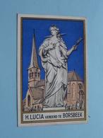 H. LUCIA Vereerd Te BORSBEEK ( Zie Foto's Voor Detail ) ! - Religion & Esotérisme