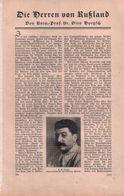 Die Herren Von Rußland (von Rof.Otto Dötzsch) / Artikel, Entnommen Aus Zeitschrift / 1930 - Books, Magazines, Comics