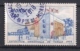 YT N° 1828 -  Oblitéré -  Expo Universelle - Mónaco