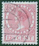 12 1/2 Ct Wilhelmina No Watermark NVPH 154 (Mi 155 A) 1924 -1925 1926 Gestempeld / USED NEDERLAND / NIEDERLANDE - 1891-1948 (Wilhelmine)
