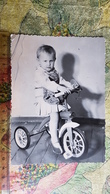 USSR. Girl Riding Bicycle   - Vintage Photography 1960s  Old  Photo - Personnes Anonymes