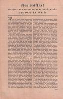 Neu Eröffnet-ernstes Von Einem Vergnügten Gewerbe (Luxuxlokal) / Artikel, Entnommen Aus Zeitschrift / 1930 - Books, Magazines, Comics