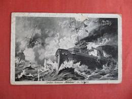 Kreuzer Blucher Im Gefecht   As Is Paper Loss  Feldpost Cancel  Ref 3010 - Warships