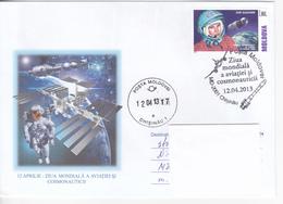 2013 , Moldova  Moldavie  Moldavia , Space, J. Gagarin, World Day Of Aviation And Cosmonautic , Special Cancell. - Moldova