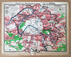 Plan Almanach/calendrier Paris - Métro,France,Paris Banlieue - Europa