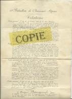 Citations 63ème Bataillon De Chasseurs Alpins (14/18), Chasseur Bourganel J. - 1914-18