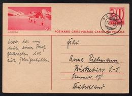 SUISSE - AROSA / 1938 ENTIER POSTAL ILLUSTRE VOYAGE (ref LE2402) - Entiers Postaux