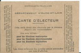 CARTE D 'ELECTEUR - 1934/1935 Commune De FRAZE - Documents Historiques