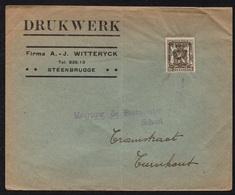 BELGIQUE - BELGÏE - STEENBRUGGE / I-VII-1939 PREOBLITERE SUR LETTRE (ref LE2401) - Typo Precancels 1936-51 (Small Seal Of The State)