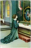PREGHIERA PER UN SOLDATO  Cartolina Con Vera Medaglietta E Nastrino Tricolore Benedizione All'esercito Leggi Testo - Guerra 1914-18