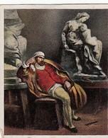 Les Grands De L'histoire - N°16 MICHELANGELO - Cartes De Cigarettes Allemandes Eckstein No. 5 De 1934 - Raritat - Cigarette Cards