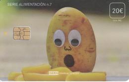 ISN-257/a TARJETA DE ESPAÑA DE ISERN  DE LA SERIE ALIMENTACION Nº7 FECHA 02/18 COLOR MATE (PATATA-POTATO) - Alimentación