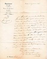 NANTUA (01) - 30 Janvier 1845 - Lettre Relative à Des Frais De Procès - - Documents Historiques