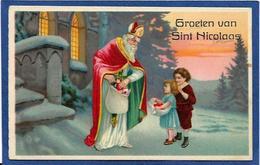 CPA Saint Nicolas Père Noël Santa Claus Circulé - Saint-Nicholas Day